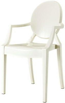 18.5 in. Plastic Dining Arm Chair Stackable and Durable Indo