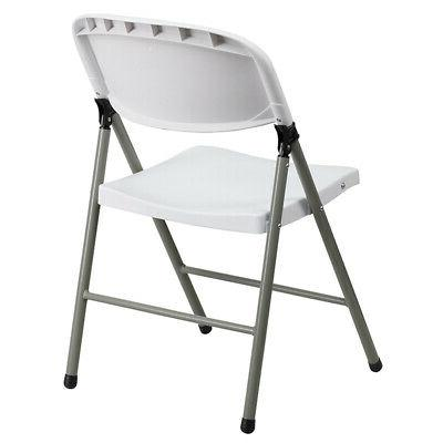 2 Pack Commercial White Plastic Folding Chair