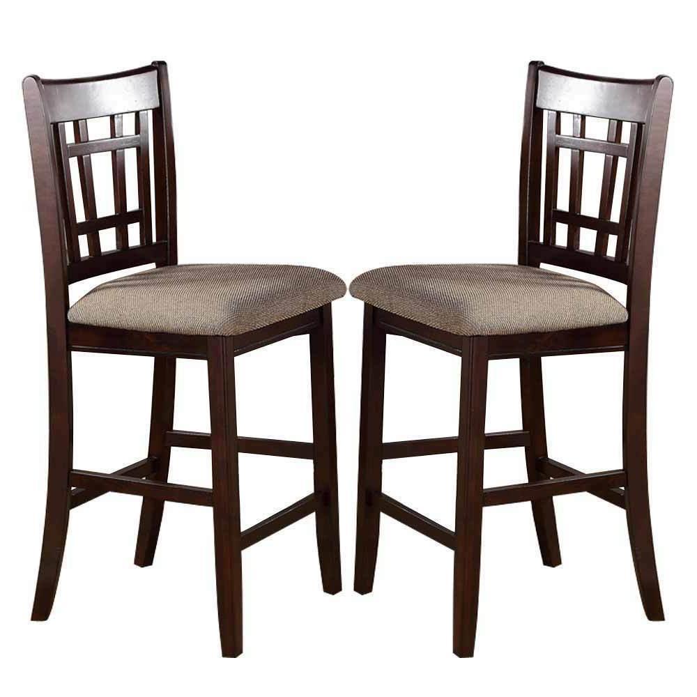 2 pc dark rosy brown wood dining