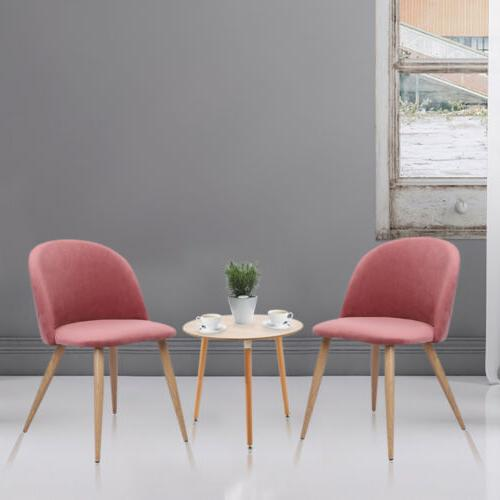 Set of 2 Mid Century Style Dining Chair Upholstered Chairs w