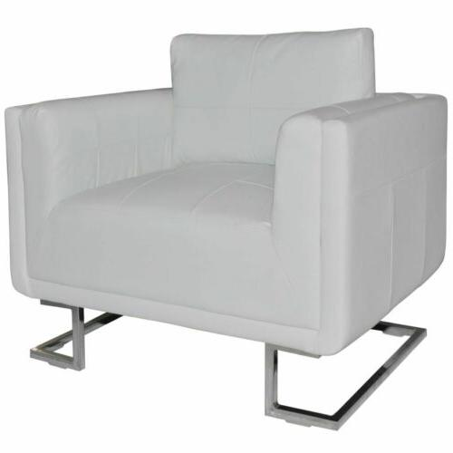3 Chair Comfy Upholstered Arm Chair