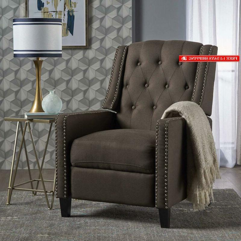 302094 ingrid recliner chair coffee dark brown