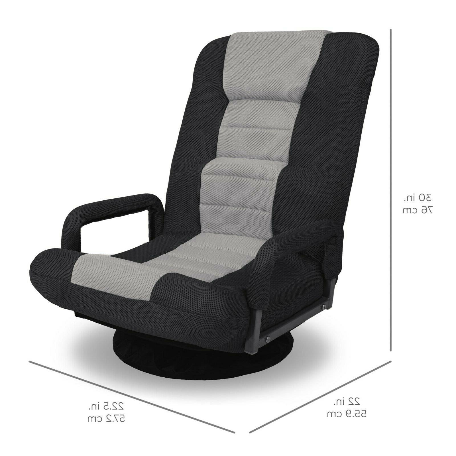 Best Products 360-Degree Swivel Chair w/ Armrest Handles