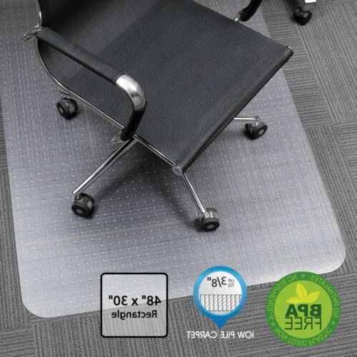 Door Mat Office Chair Mat For Low Pile Carpet Protector PVC