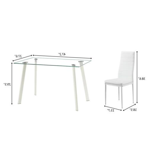Lot 5 Top Set and 4 Chair Kitchen Dining Room NEW