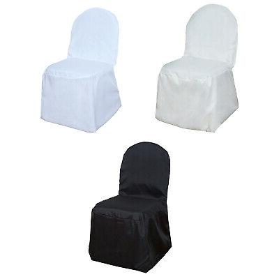 50pcs round top polyester banquet chair covers