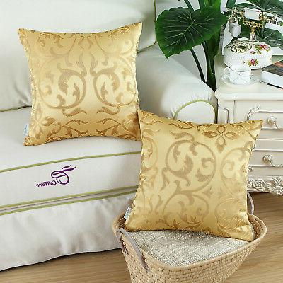 """CaliTime Covers for Couch Sofa Decor Gold 18x18"""""""