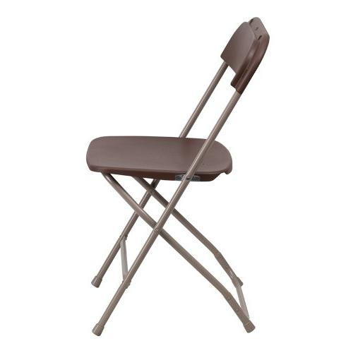Flash Hercules Series 800-Pound Premium Folding Chair, Brown