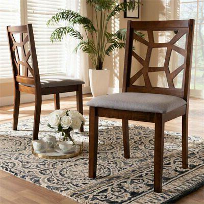 Baxton Abilene Side Chair and Grey