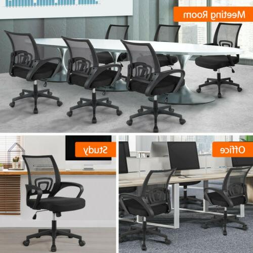 Adjustable Mesh Swivel Computer Office Task Chair Mid-back