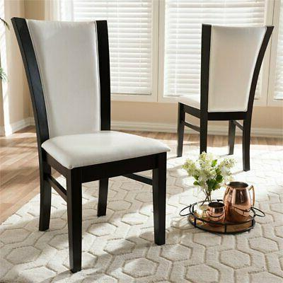 Baxton Leather Dining Side Chair in