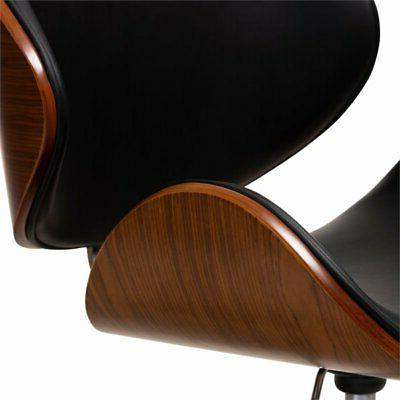 Baxton Studio Leather Metal Chair in
