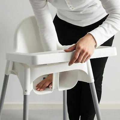 ANTILOP High chair tray - white, silver NEW