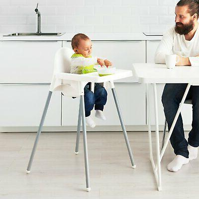 ANTILOP High chair with tray white, color