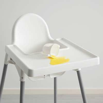 ANTILOP High chair tray silver white, silver color NEW