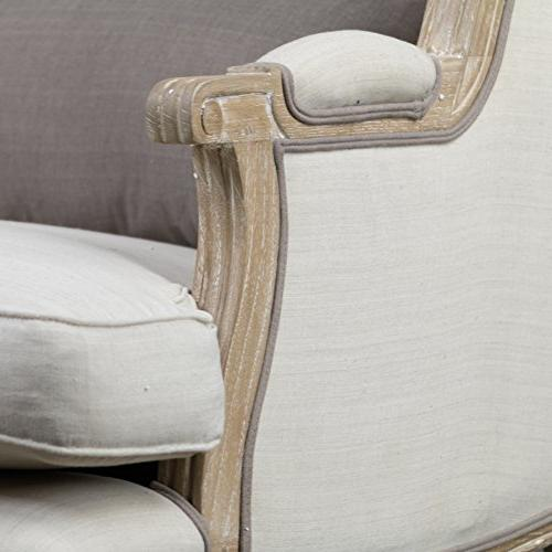 Baxton Traditional Accent Chair, Large,