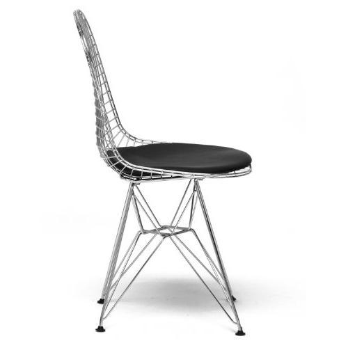 Avery Mid-century Chair Black Cushion Set 2