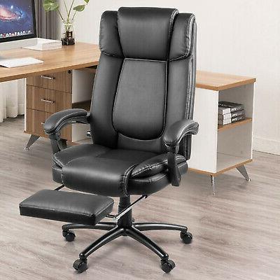 back computer leather ergonomic office