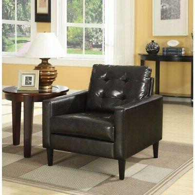 Balin Accent Club Arm Chair, Espresso, Polyurethane Grey