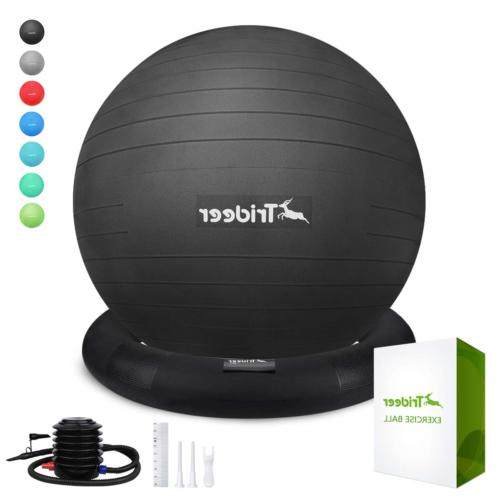 Trideer Ball Chair, Exercise Stability Yoga Ball with Base f