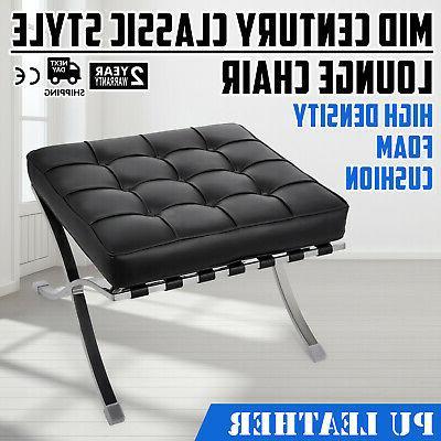 barcelona style lounge chair and ottoman set