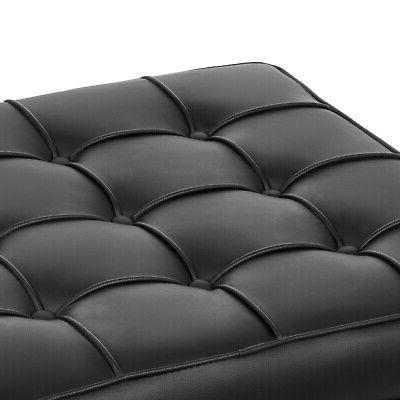 Barcelona and Ottoman Set Leather Mid Century