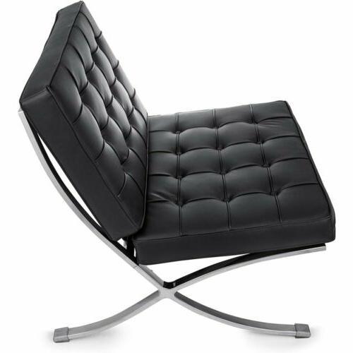 Barcelona Chair with Ottoman - Grain
