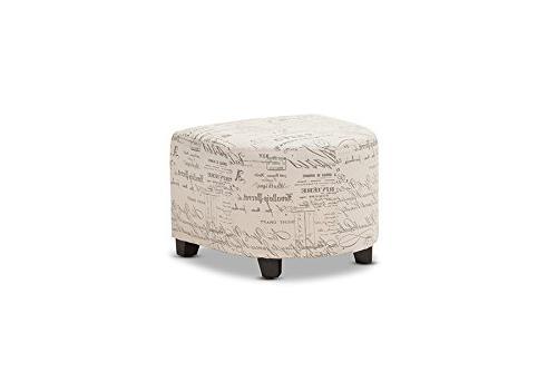 Baxton Script Patterned Club Chair