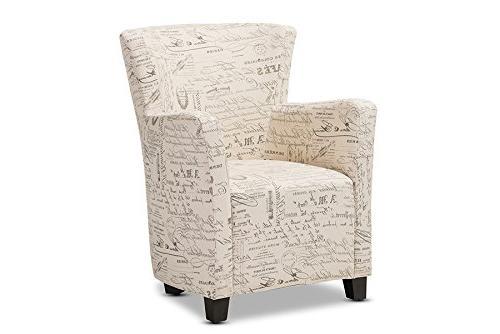 Baxton Script Patterned Chair