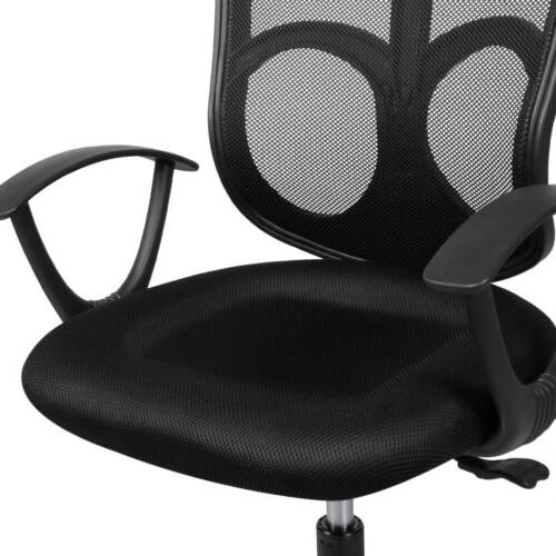 Black Ergonomic Computer Office Desk Midback Chair