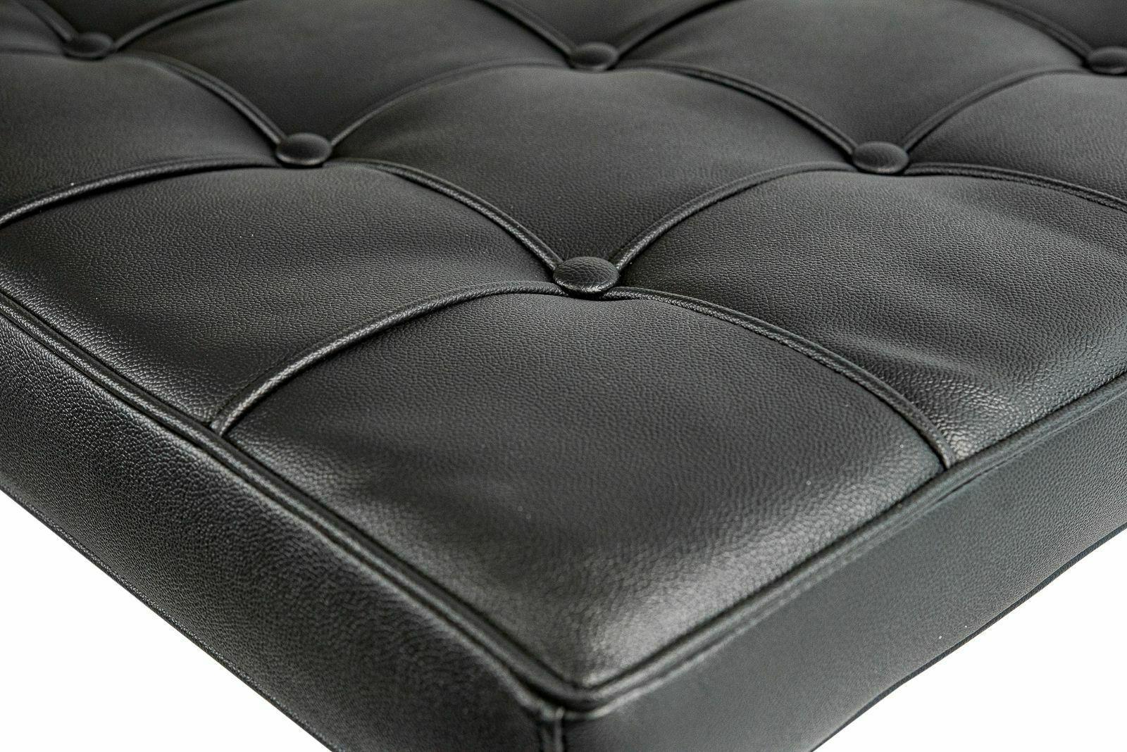 Black Leathersoft Barcelona Cushion Set and Backrest
