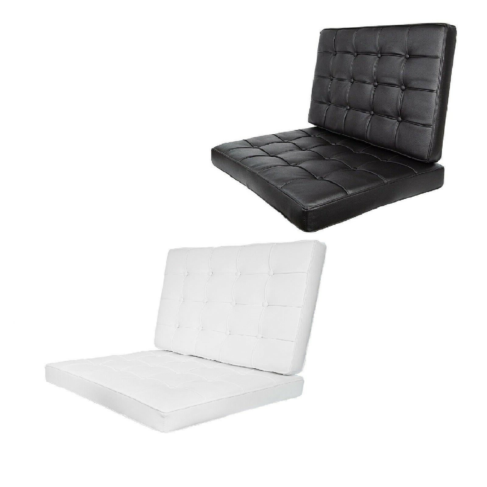 black leather barcelona style chair cushions