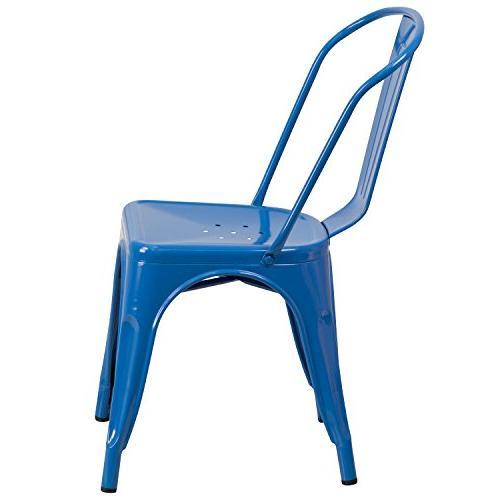 Flash Blue Indoor-Outdoor Stackable Chair