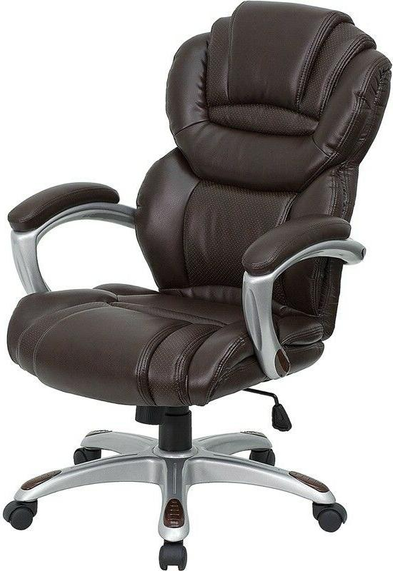 Brown High Executive Computer Office Desk Chair