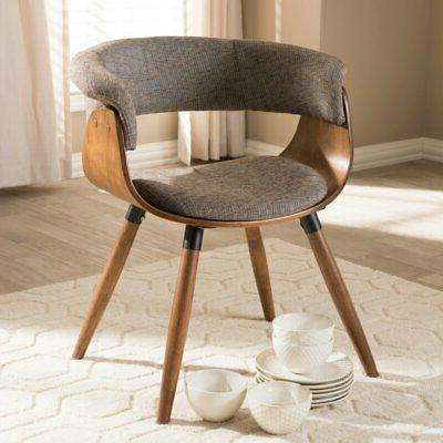 bryce mid century modern fabric upholstered bent