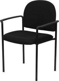 Flash Furniture BT-516-1-BK-GG Black Fabric Comfortable Stac