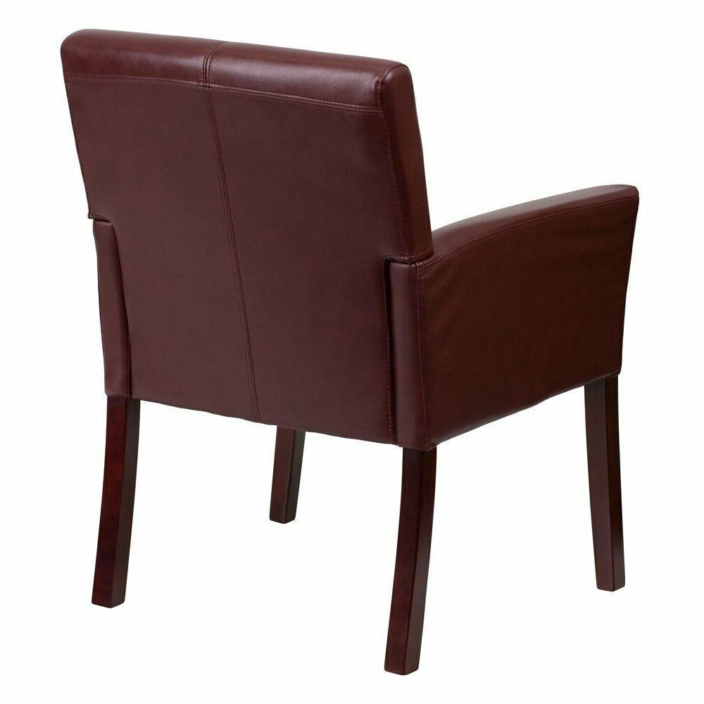 Flash Furniture Burgundy Leather Executive Side Reception Ch