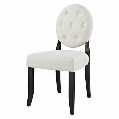 button tufted dining side chair