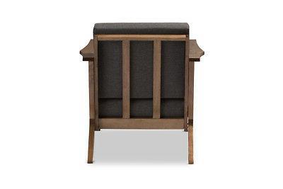 Baxton Studio Chair Grey Mid-Century