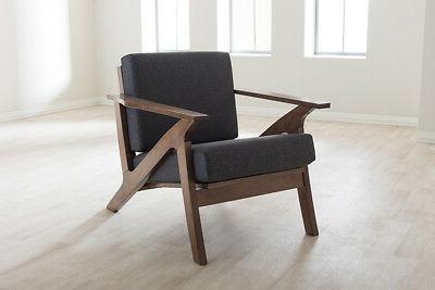 Baxton Studio Cayla Chair Grey Mid-Century
