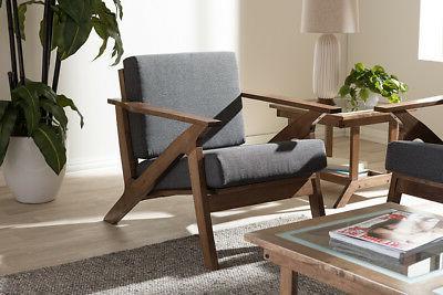 cayla lounge chair grey walnut brown mid
