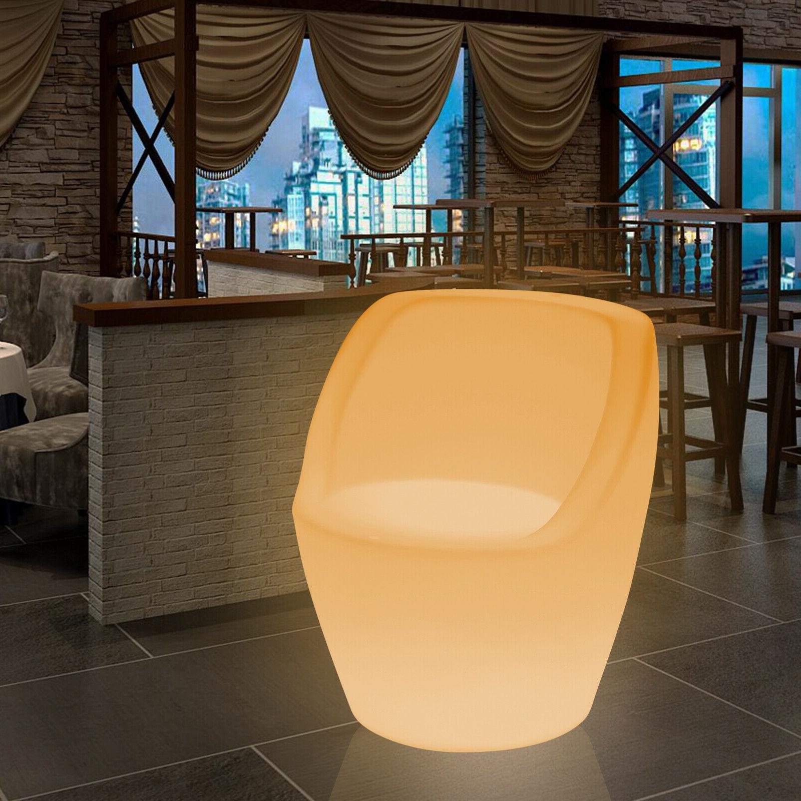 Changing LED Light Up Furniture Lounge Seat