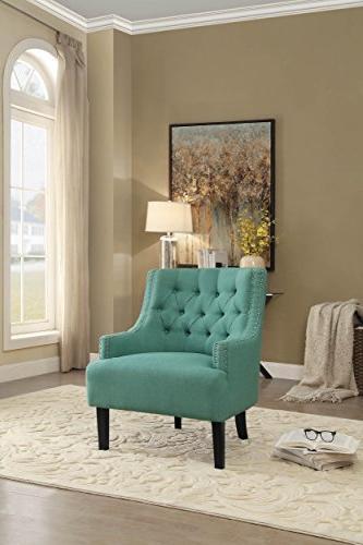 Homelegance Charisma Chair, Teal