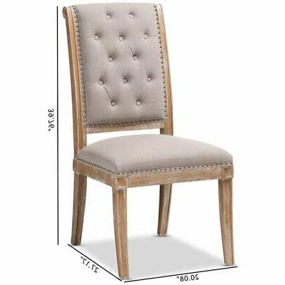 Baxton Studio Tufted Dining Chair in Beige and