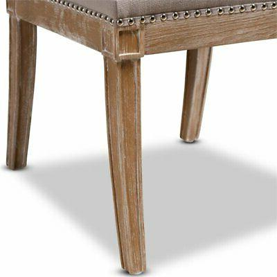 Baxton Charmant Dining in Beige and