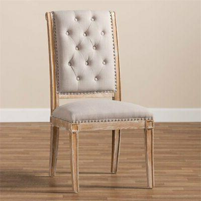 Baxton Studio Tufted Dining Beige and