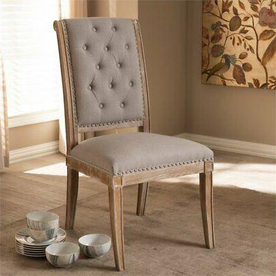 Baxton Dining Chair Beige
