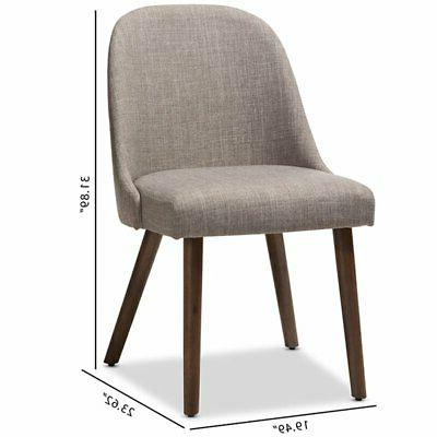 Baxton Upholstered Dining Side Chair in Gray