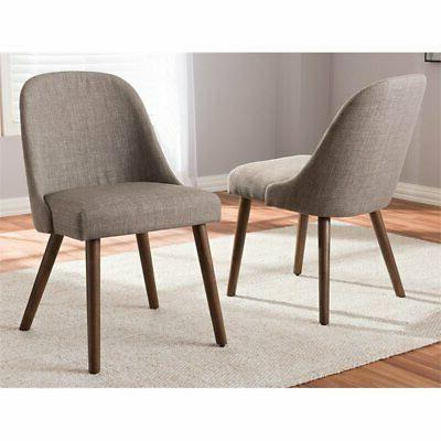 Baxton Dining Side Chair Gray