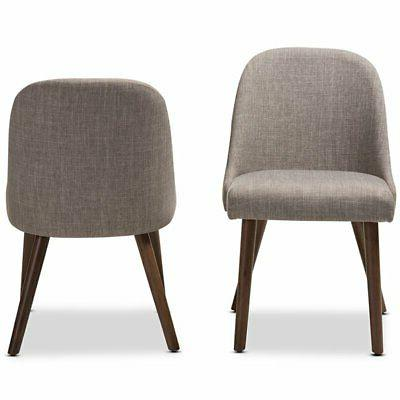 Baxton Studio Dining Chair Gray